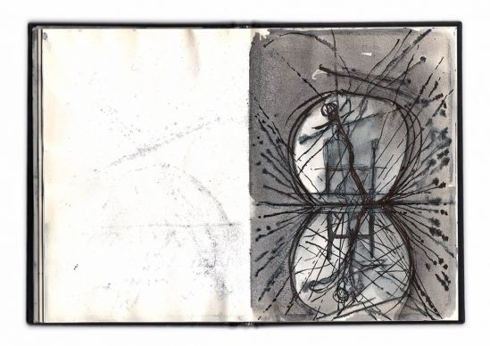 Alfredo Pirri, disegni preparatori per progetto Idra