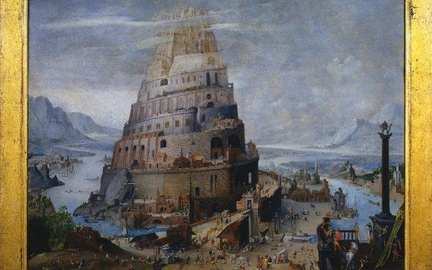 Ambito di Abel Grimmer (Anversa 1570 ca.-1620 ca.) La Torre di Babele Fine del secolo XVI – inizio del secolo XVII Olio su tavola, cm 49,9x66,5 Siena, Pinacoteca Nazionale, Inv. 534