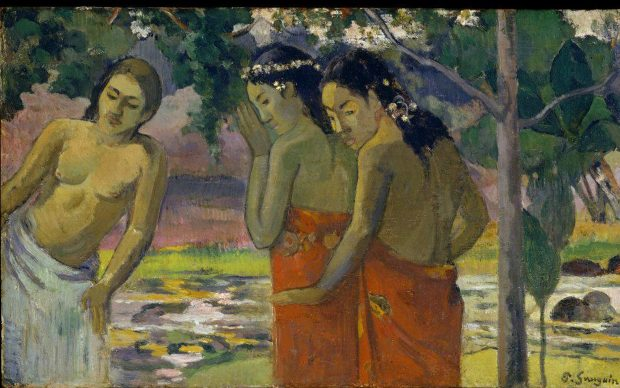 Gauguin, Paul (1848-1903): Three Tahitian Women, 1896. New York, Metropolitan Museum of Art*** Permission for usage must be provided in writing from Scala.