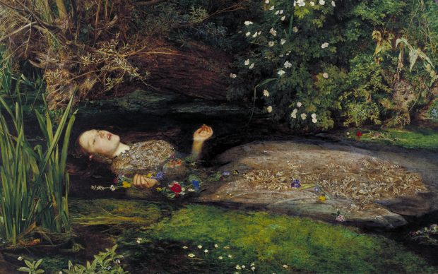 John Everett Millais Ophelia 1851-52 oil on canvas 76.2 x 111.8 cm Tate collection presented by Sir Henry Tate 1894 © Tate, London 2018