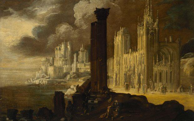 François de Nomé detto Monsù Desiderio Paesaggio con rovine architettonicheanni venti del XVII sec. olio su tela76,8 ×101,7 cmMuseo Statale Ermitage, San Pietroburgo
