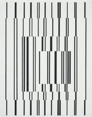 Victor Vasarely (1906–1997), Fugue, 1958–1960, Städel Museum, Frankfurt am Main, ownership Städelschen Museums-Verein e.V. © VG Bild-Kunst, Bonn 2018 Photo: Städel Museum – ARTOTHEK