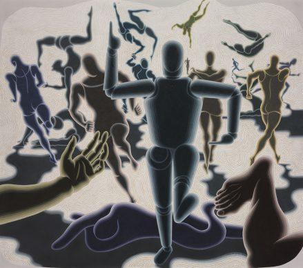 Victor Vasarely (1906–1997), Étude homme en mouvement, 1943, Vasarely Múzeum, Budapest © VG Bild-Kunst, Bonn 2018 Photo: Szépművészeti Museum – Museum of Fine Arts Budapest, 2018