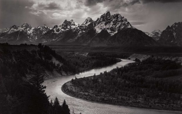 Ansel Adams, The Tetons and Snake River, Grand Teton National Park, Wyoming, 1942. Gelatin silver print. The Lane Collection. © The Ansel Adams Publishing Rights Trust.