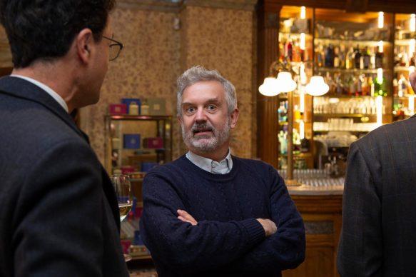 Alberto Salvadori all'opening della videoinstallazione di MASBEDO presso Galleria Cracco a Milano, 2018. Photo by Carmine Conte