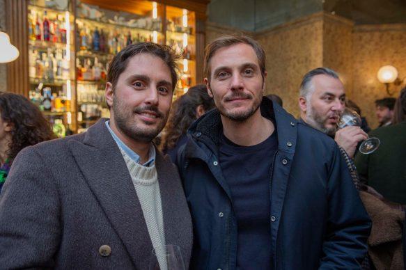 Federico Santamaria ed Eros Galbiati all'opening della videoinstallazione di MASBEDO presso Galleria Cracco a Milano, 2018. Photo by Carmine Conte