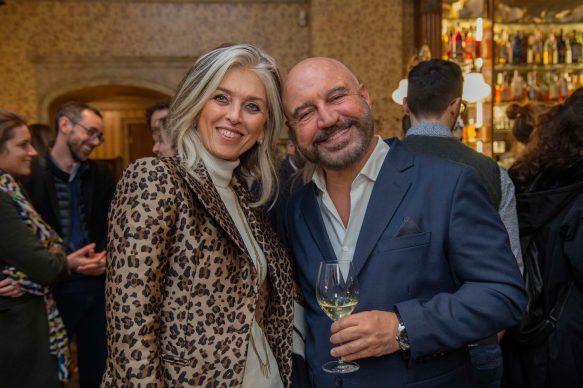 Paola Marella e Antonio Capitani  all'opening della videoinstallazione di MASBEDO presso Galleria Cracco a Milano, 2018. Photo by Carmine Conte