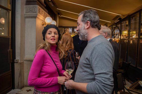 Sabrina Donadel e Luca Bradamante  all'opening della videoinstallazione di MASBEDO presso Galleria Cracco a Milano, 2018. Photo by Carmine Conte