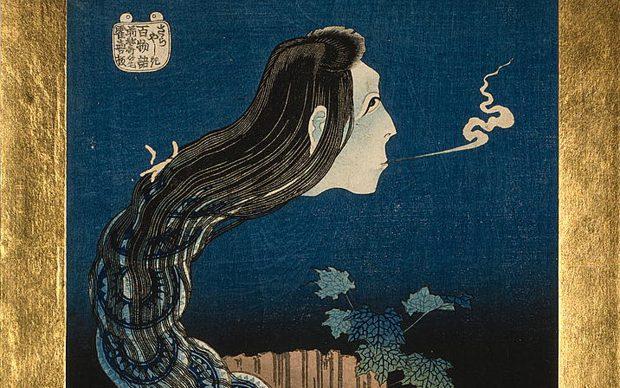 Katsushika Hokusai, The plate mansion, dalla serie Hyaku monogatari, 1830, Library of Congress - Washington D.C.