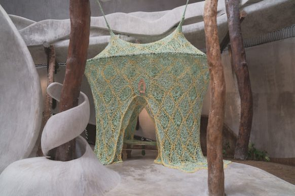 Installation view, Ernesto Neto, Healing House, for Conjunctions at IK LAB Uh May © Copyright Enchanting Transformation 2018. All Rights Reserved