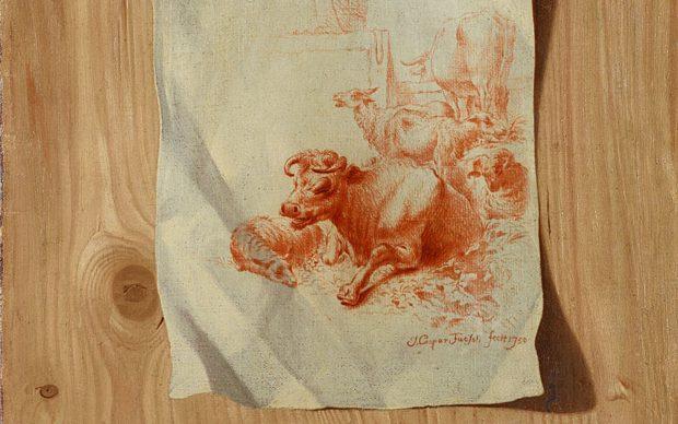 Johann Kaspar Füssli 1706-1782 Trompe l'œl Switzerland 1750 Oil on canvas 49 х 36,5
