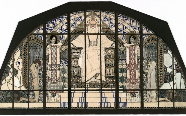 Koloman Moser, Design for the south-facing window of the Church of St. Leopold am Steinhof, 1905/06 © MAK/Georg Mayer