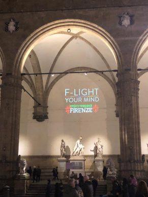 Firenze Light Festival 2018, Loggia dei Lanzi – Foto Courtesy MUS.E Firenze