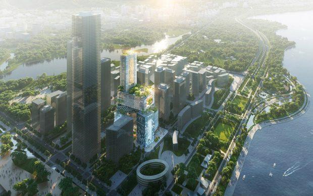 MVRDV, Vanke 3D City - Shenzhen, China, 2018. Images: ©  ATCHAIN. Copyright: MVRDV 2018 (Winy Maas, Jac ob van Rijs, Nathalie de Vries)