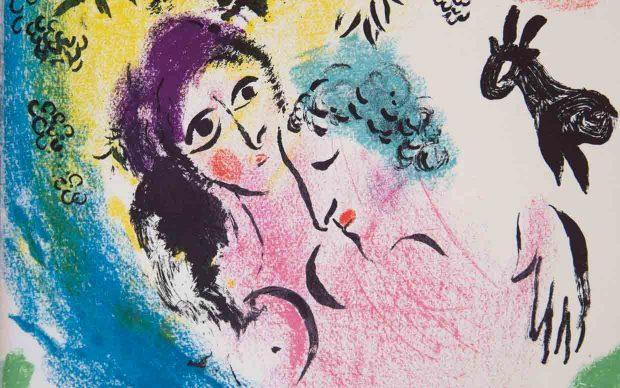 Marc Chagall, Les Amoureux au soleil rouge