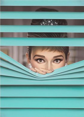 Michael Moebius, Audrey Hepburn, Oil on canvas - Mostra Beyond Reality, 13-28 dicembre 2018, Opera Gallery, Londra