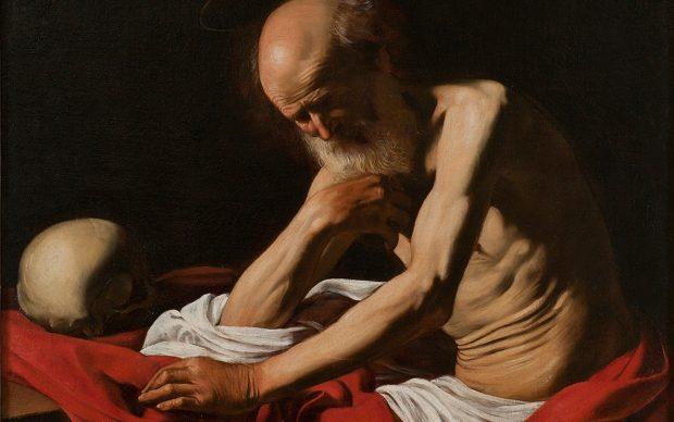 Michelangelo Merisi detto il Caravaggio, San Gerolamo in meditazione, 1605
