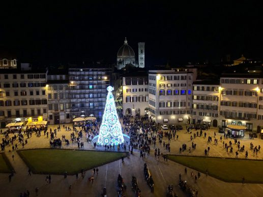 Firenze Light Festival 2018, Piazza Santa Maria Novella – Foto Courtesy MUS.E Firenze