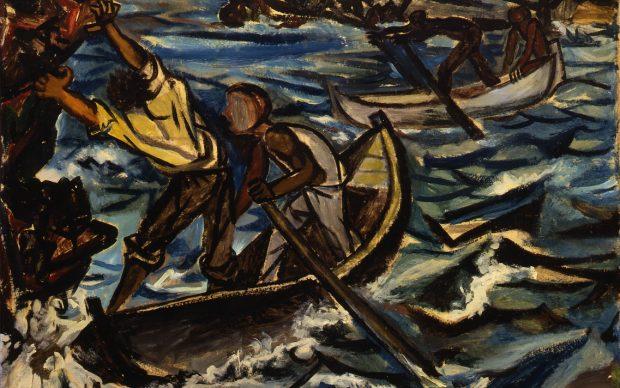 RENATO GUTTUSO, Barche nella tempesta, 1950