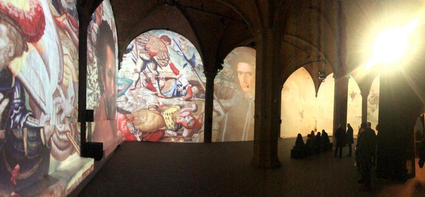Firenze Light Festival 2018, Sala d'Arme – Foto Courtesy MUS.E Firenze