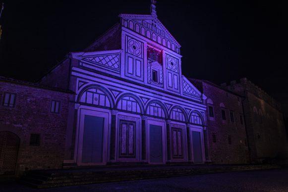Firenze Light Festival 2018, Basilica di San Miniato al Monte – Foto Courtesy MUS.E Firenze