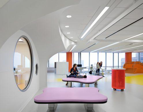 INSIDE World Festival of Interior - Vincitore Categoria Health: Rehabilitation Institute of Chicago (RIC), Chicago di Clive Wilkinson Architect - Credit: Michael Moran