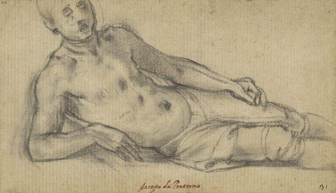 Pontormo (Jacopo Carucci), Reclining Youth. Credit The J. Paul Getty Museum, Los Angeles