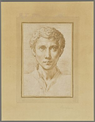 Parmigianino (Francesco Mazzola), The Head of a Young Man. Credit: The J. Paul Getty Museum, Los Angeles