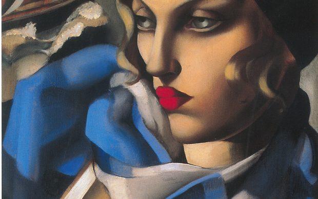Tamara de Lempicka, L'écharpe bleue - Collezione privata