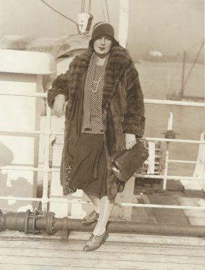 Tamara a bordo del S.S.Paris,1929, fotografía - Foto ACME Newspictures