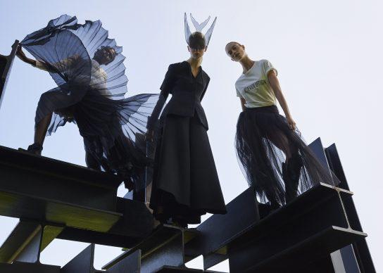 Dior (Maria Grazia Chiuri), Spring/summer 2017 ready-to-wear, and Spring/summer 2017 haute couture. Petrovsky & Ramone (photo), Maarten Spruyt (art direction) for Gemeentemuseum Den Haag. Courtesy Dior