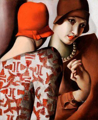 Tamara de Lempicka, Las confidencias (Las dos amigas) (detalle), 1928, colección privada Stefano Contini