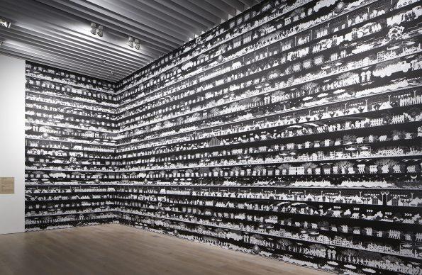 "Ai Weiwei, Odyssey, 2016 / 2018. Collection of the artist. Installation view: ""Catastrophe and the Power of Art,"" Mori Art Museum, Tokyo, 2018. Photo: Kioku Keizo. Photo courtesy: Mori Art Museum, Tokyo"