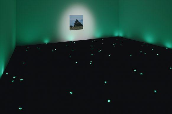 "Miyajima Tatsuo, Sea of Time - TOHOKU (2018 Tokyo), 2018. Collection of the artist. Installation view: ""Catastrophe and the Power of Art,"" Mori Art Museum, Tokyo, 2018. Photo: Kioku Keizo. Photo courtesy: Mori Art Museum, Tokyo"