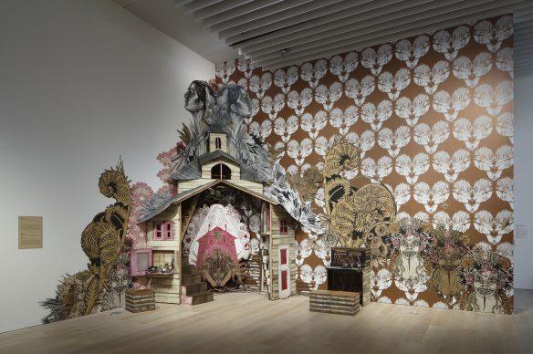 "Swoon, Medea, 2017. Collection of the artist. Installation view: ""Catastrophe and the Power of Art,"" Mori Art Museum, Tokyo, 2018. Photo: Kioku Keizo. Photo courtesy: Mori Art Museum, Tokyo"
