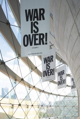 "John Lennon & Yoko Ono, War Is Over, 1969 / 2018. Installation view: ""Catastrophe and the Power of Art,"" Mori Art Museum, Tokyo, 2018. Photo: Kioku Keizo. Photo courtesy: Mori Art Museum, Tokyo"