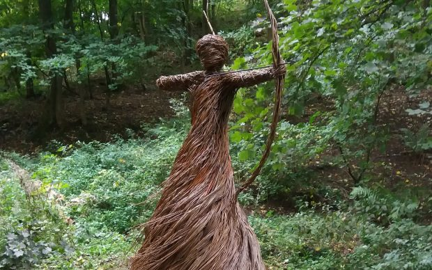 Anna and the Willow, The Spirit of the Medieval Hunter, 2018, The Woodland Trust, Skipton Castle Woods