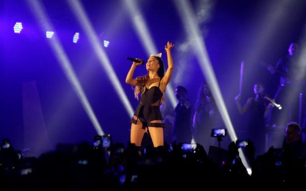 Ariana Grande in Indonesia, a Giacarta, durante l'Honeymoon Tour, 2015, fonte Wikipedia