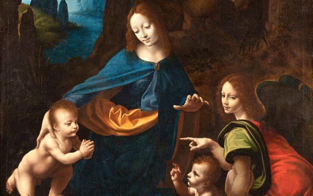 Francesco Melzi, Vergine delle Rocce del Borghetto particolare