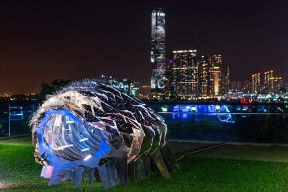 Flowering Phantasm, Hong Kong Pulse Light Festival, International Light Art Display -Photo by Anthony Kwan/Getty Images for Hong Kong Tourism Board