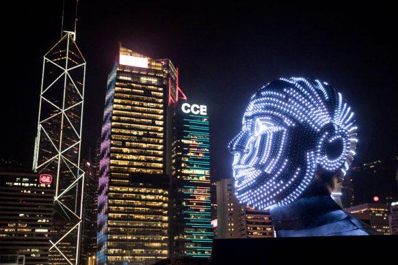 Talking Head, Hong Kong Pulse Light Festival, International Light Art Display -Photo by Zhizhao Wu/Getty Images for Hong Kong Tourism Board