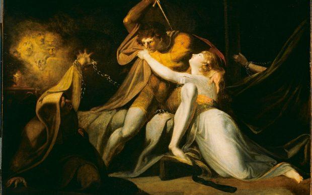 Johann Heinrich Füssli, Percival befreit Belisane aus der Bezauberung durch Urma, 1783. Tate, London. Courtesy Kunstmuseum, Basilea
