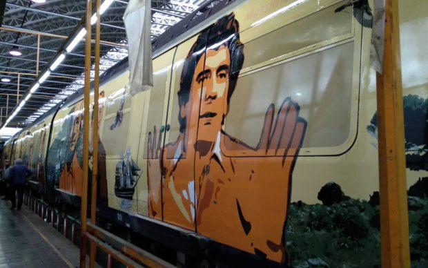 Mattia Campo Dall'Orto Massimo Troisi livrea d'arte treno Circumvesuviana