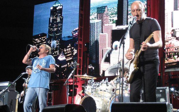 Roger Daltrey e Pete Townshend, The Who in concerto, 2006, photo by Mufc13 fonte Wikipedia