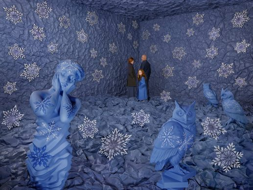 Sandy Skoglund, Winter, 2018. Sandy Skoglund studio, New York.  Courtesy Paci contemporary gallery (Brescia – Porto Cervo, IT)