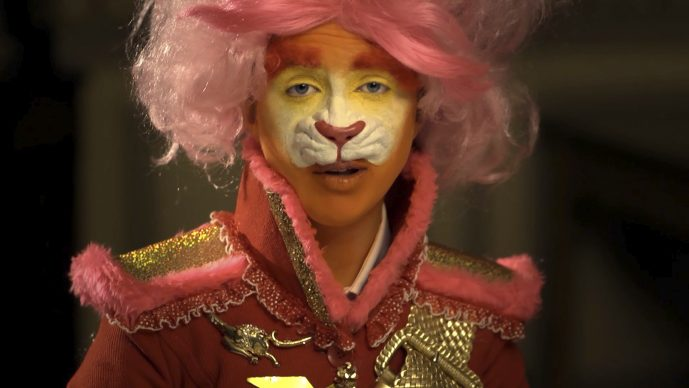 Rachel Maclean, The Lion and The Unicorn, 2012. Digital Film Commissioned by Edinburgh Printmakers and funded by Creative Scotland.  Courtesy of the Artist © Rachel Maclean
