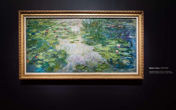 """Installation photography of """"Monet: The Late Years"""". Photography by Drew Altizer. Image courtesy of the Fine Arts Museums of San Francisco"""