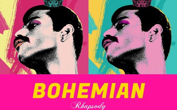 Alice Lee per Shutterstock, locandina in chiave pop art del film Bohemian Rhapsody