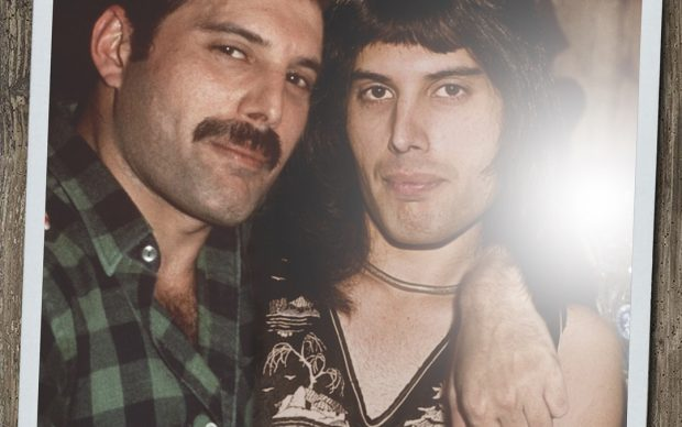 Ard Gelinck, doppio ritratto fotografico Freddie Mercury giovane adulto Instagram @ardgelinck