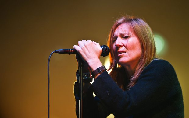 Beth Gibbons performing with Portishead at Roskilde Festival 2011 on Orange Stage